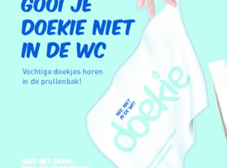 Doekie, nee niet in de wc!