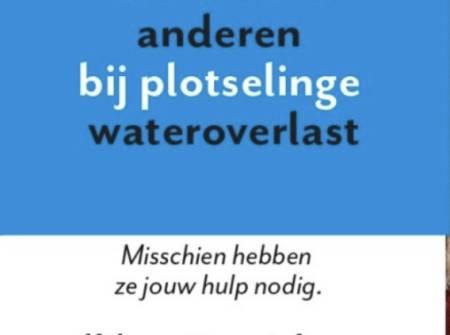 Wat te doen bij (dreigende) wateroverlast? Kijk op wachtnietopwater.nl!