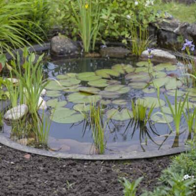 Bovengrondse opvang (in de tuin)